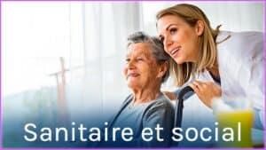 Les métiers sanitaire et social
