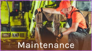 Maintenance d'un engin de chantier