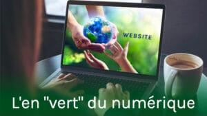 ordinateur avec une image symbolisant la protection de la Terre